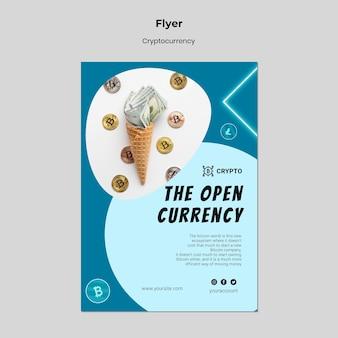 Flyer-vorlage für kryptowährungen