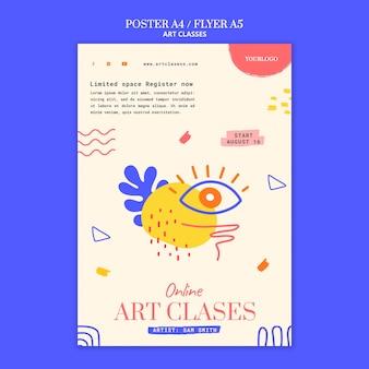 Flyer vorlage für kunstkurse