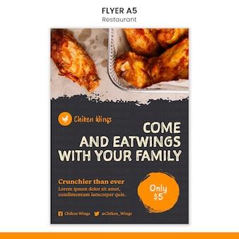 Flyer vorlage für lebensmittelrestaurants Kostenlosen PSD