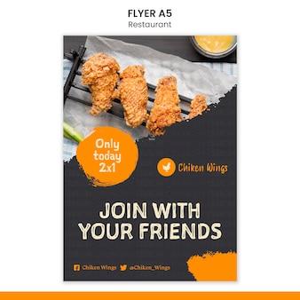 Flyer vorlage für lebensmittelrestaurants