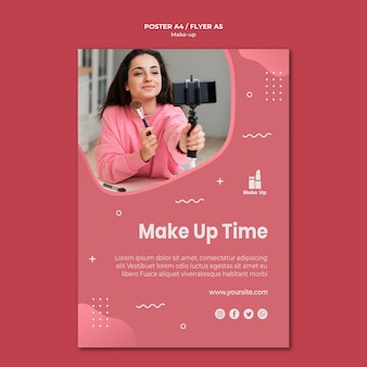 Flyer-vorlage für make-up-produkte