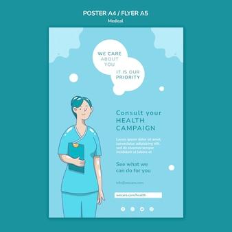 Flyer vorlage für medizinische versorgung