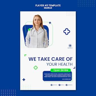 Flyer-vorlage für medizinisches konzept