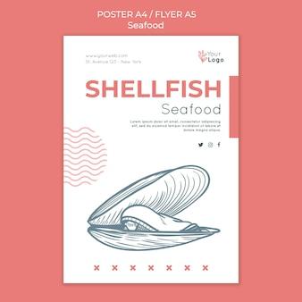 Flyer-vorlage für meeresfrüchtekonzept
