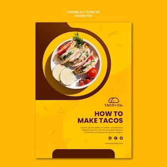 Flyer vorlage für mexikanisches essen restaurant