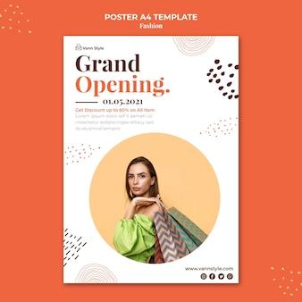 Flyer vorlage für mode-shopping-shop