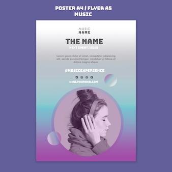 Flyer-vorlage für musikerlebnisse