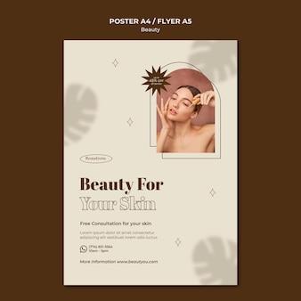Flyer vorlage für natürliche schönheit