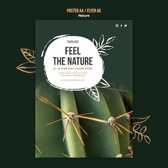 Flyer-vorlage für naturereignisse