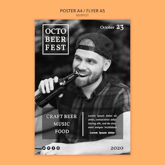 Flyer vorlage für octobeerfest