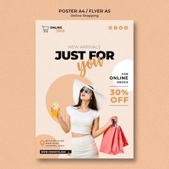 Flyer vorlage für online-modeverkauf