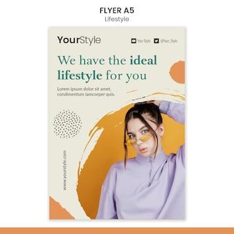 Flyer vorlage für persönlichen lebensstil