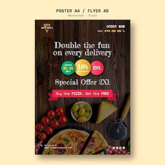 Flyer vorlage für pizzeria
