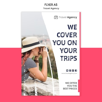 Flyer-vorlage für reisebüros