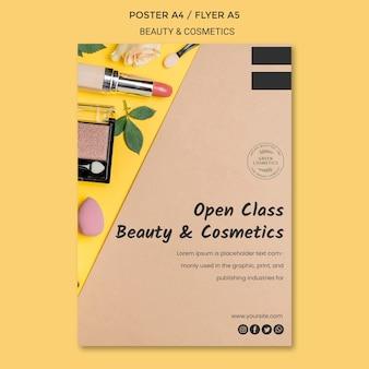 Flyer-vorlage für schönheits- und kosmetikkonzepte
