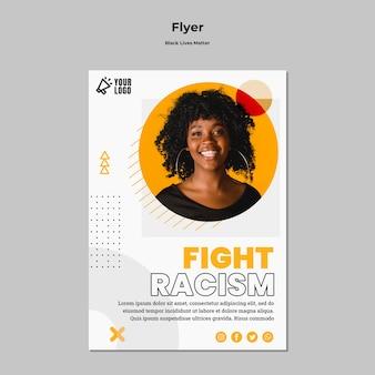 Flyer vorlage für schwarze leben materie
