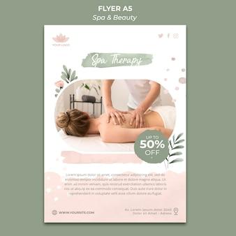 Flyer vorlage für spa und entspannung