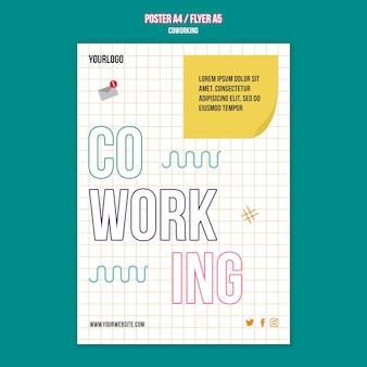 Flyer-vorlage für teamarbeitskonzepte