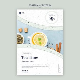 Flyer vorlage für teezeit