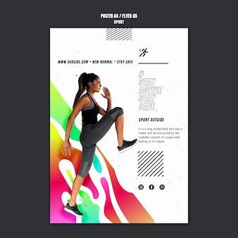 Flyer-vorlage für trainingsmotivation