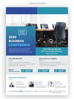 Flyer-vorlage für unternehmenskonferenzen