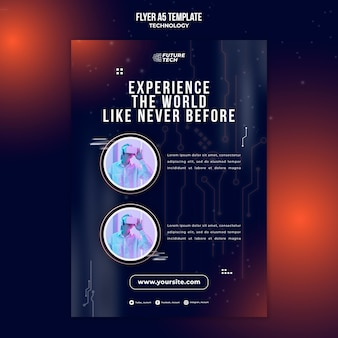 Flyer vorlage für virtual-reality-brillen