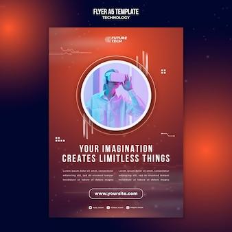 Flyer vorlage für virtual-reality-technologie