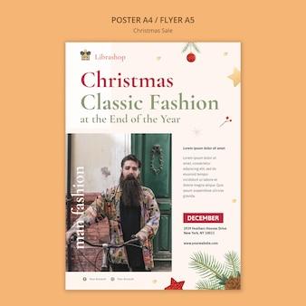 Flyer vorlage für weihnachtsverkauf