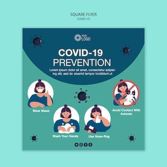 Flyer vorlage mit covid 19