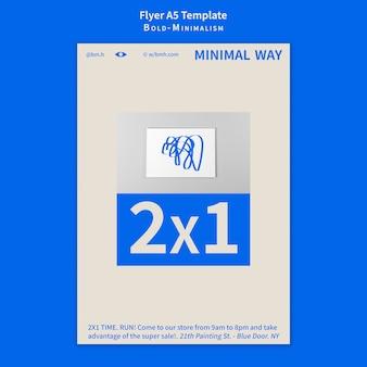 Flyer-vorlage mit fettem minimalismus