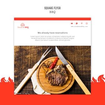 Flyer vorlage mit grill thema