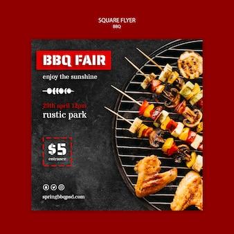 Flyer vorlage mit grill