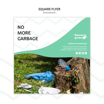 Flyer vorlage mit umweltkonzept