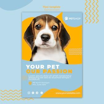 Flyer vorlage thema für zoohandlung