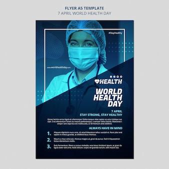 Flyer-vorlage zum weltgesundheitstag
