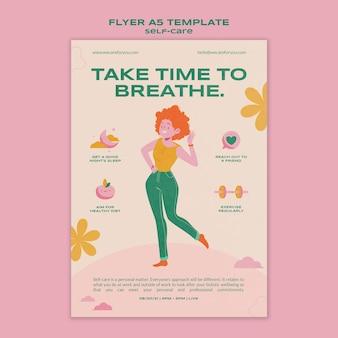 Flyer-vorlage zur selbstpflege