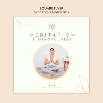Flyer zu meditation und achtsamkeit