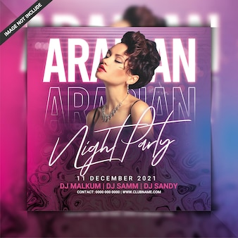 Flyer zur arabischen nachtparty