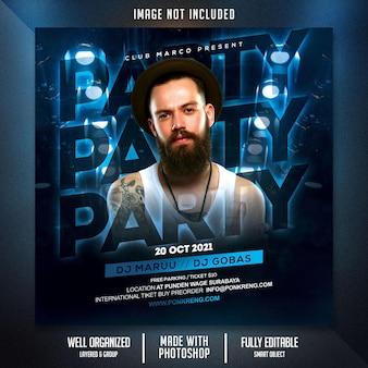 Flyer zur clubnacht-party