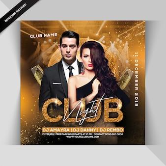 Flyer zur clubnachtparty