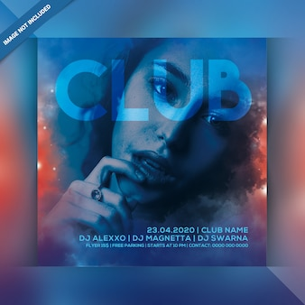 Flyer zur clubnachtparty