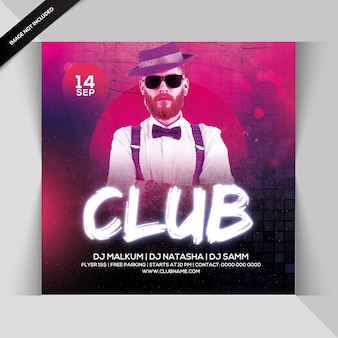 Flyer zur clubparty