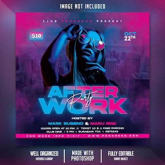 Flyer zur nachtclub-party