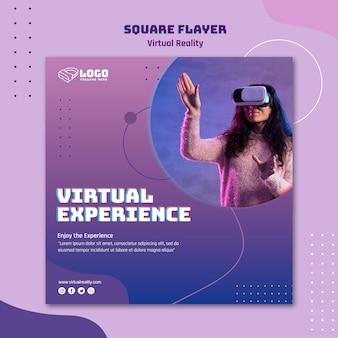Flyer zur virtuellen realität