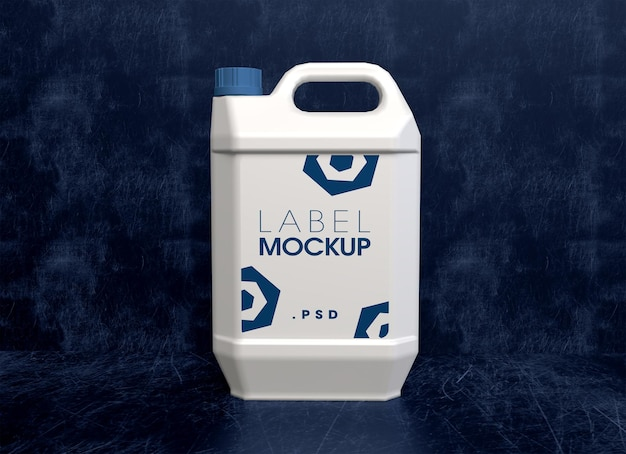 Flying plastic jugs mockup-design-rendering