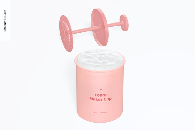 Foam maker cups mockup, geöffnet