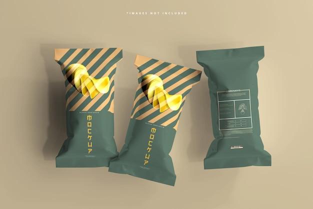 Foil food pack mockup