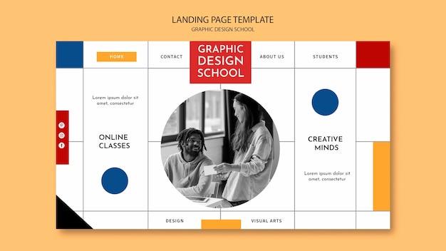 Folgen sie der landingpage des grafikdesignkurses