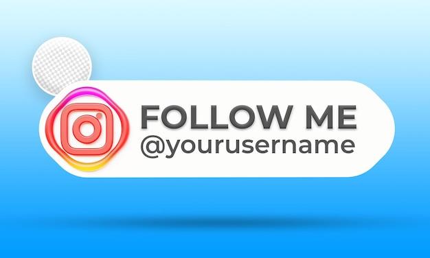 Folgen sie uns auf instagram social media banner vorlage für das untere drittel third