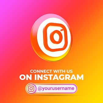 Folgen sie uns auf instagram social media square banner vorlage